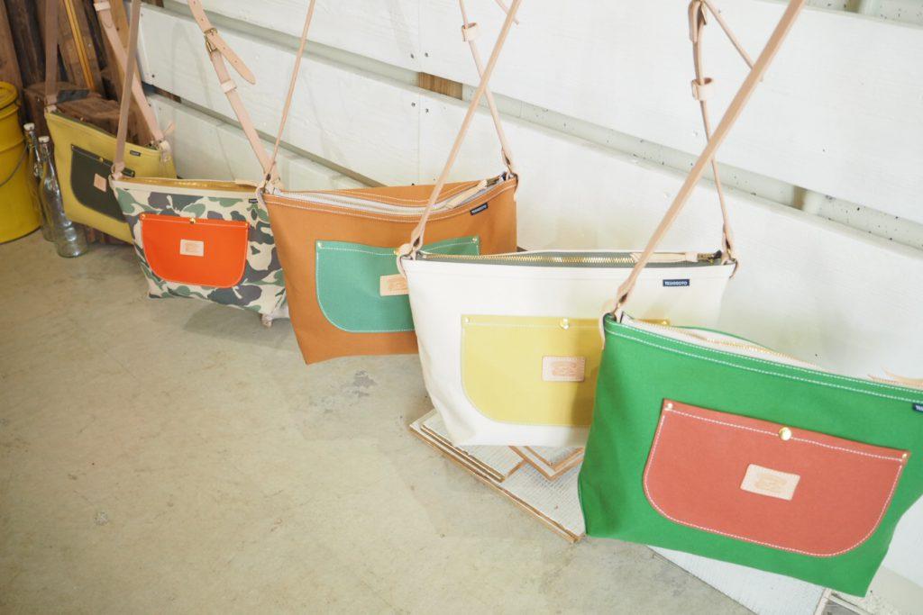 ウミカジテラスの帆布バック屋「TESHIOGOTO」のショルダーバック